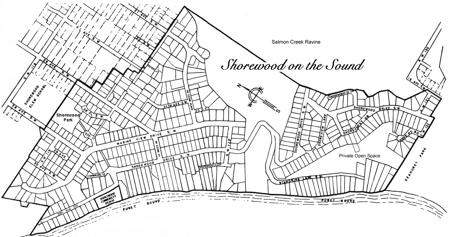 Map of Shorewood on the Sound Community